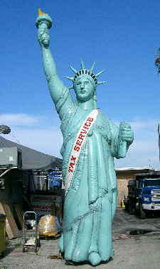 Statue of Liberty Inflatable for Tax Offices